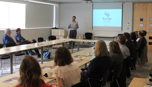 Surj speaking at The Oxford Business Network